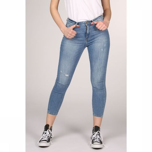 Only Jeans paola High Skinny Middenblauw