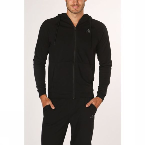 First Pullover Falcon Zip Hood black