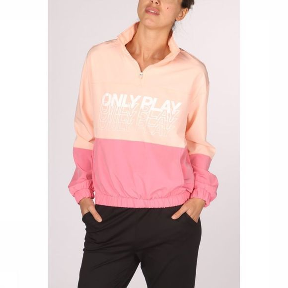 Only Play Jas Sunset Highneck Anorak Donkerroze/Middenroze