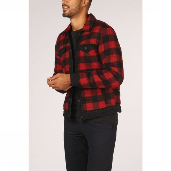 Only&Sons Coat coin Reverse Check mid red/black