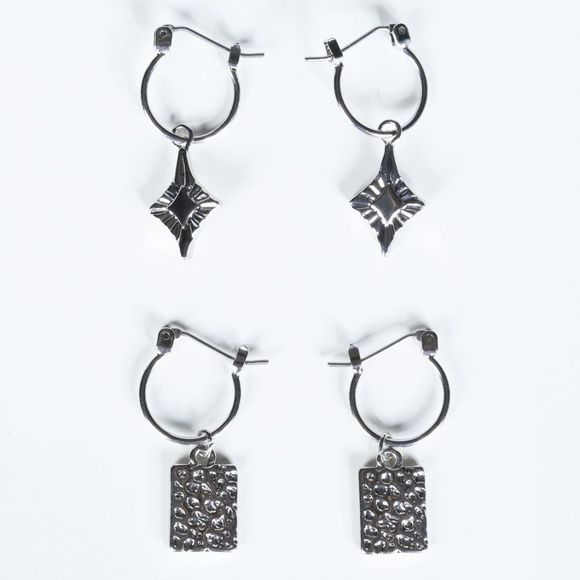 Pieces Oorbel nynna Earring 2-Pack Zilver