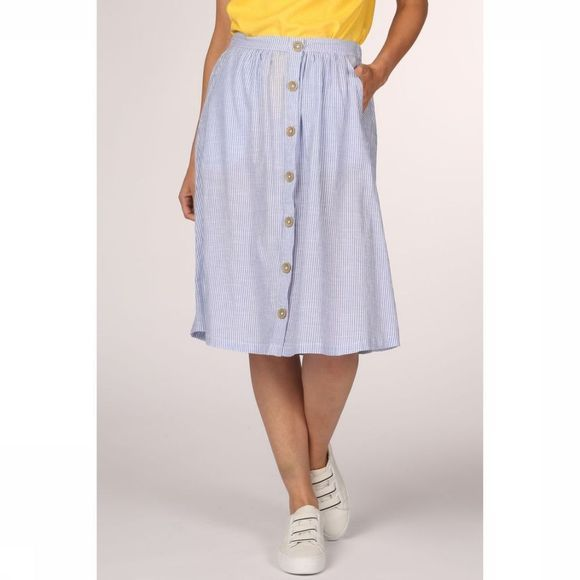 Only Skirt Onl Onycathy Button Midi Skirt Wvn off white/light blue