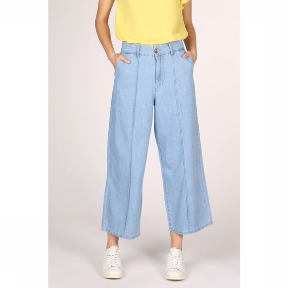 Vila Trousers netta Rw Wide Denims light blue