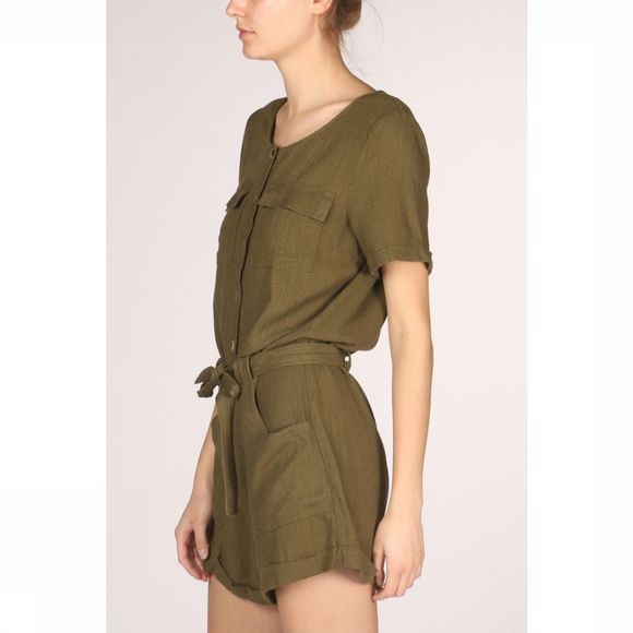 Vila Jumpsuit safari Middenkaki