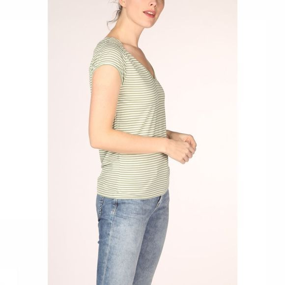Vila T-Shirt Viscoop Top - Noos Middenkaki/Wit