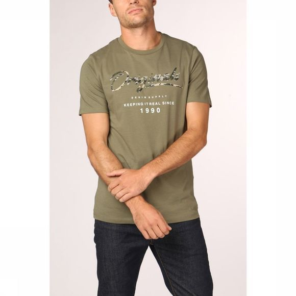 Jack & Jones T-Shirt Jorcamoclub Middenkaki