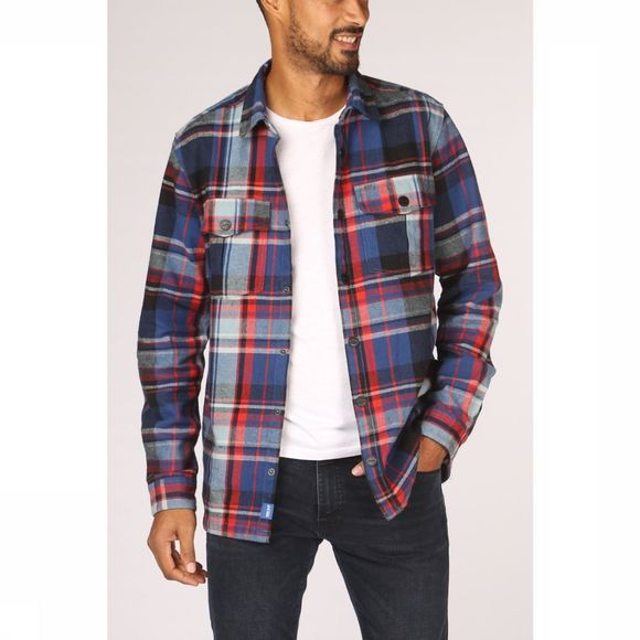 Only&Sons Hemd josh Overshirt Middenrood/Middenblauw