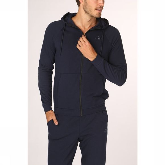 First Trui Falcon Zip Hood Marineblauw