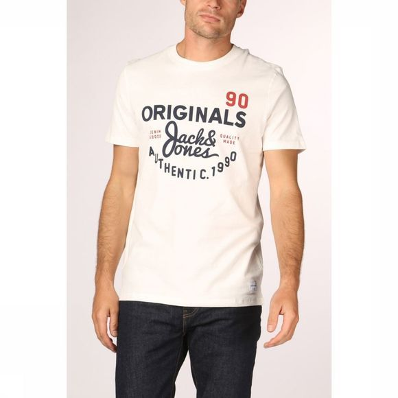 Jack & Jones T-Shirt Jorupton Gebroken Wit