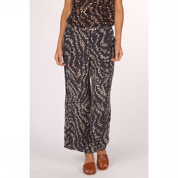 Vero Moda Trousers istanbul High Waist Wide sand/royal blue