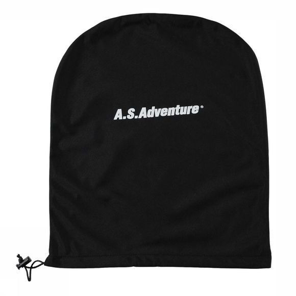 A.S.Adventure Skitas Helm AS Logo Foudraal Zwart/Wit