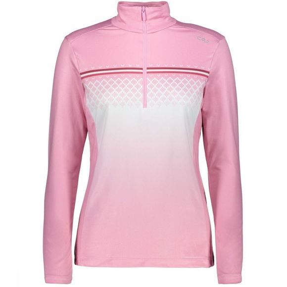 CMP Polaire Wmn Sweat Carbonium Stretch Rose Moyen/Blanc