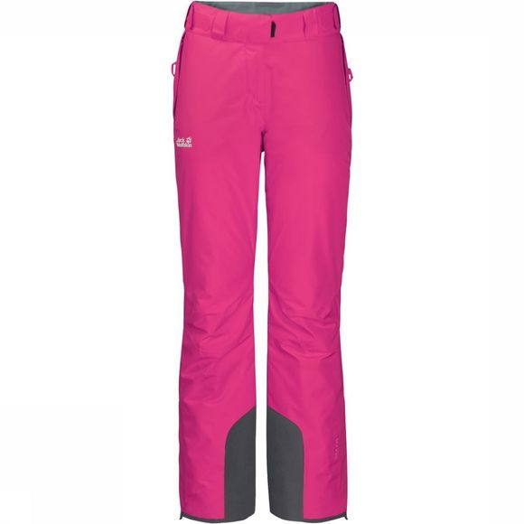 Jack Wolfskin Pantalon De Ski Powder Mountain Long Fuchsia