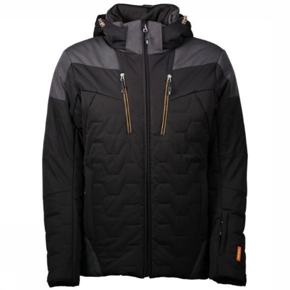 Icepeak Coat Carson Black/Dark Grey Mixture