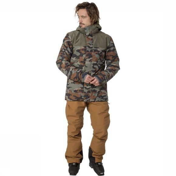 Protest Manteau Decay Vert/Assortiment Camouflage