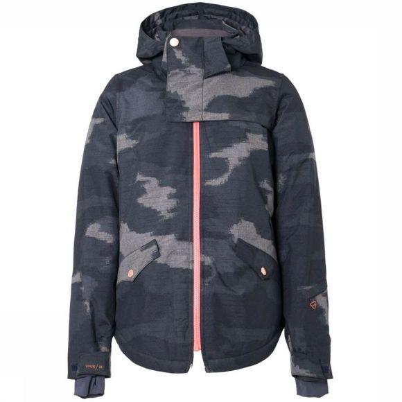 Brunotti Manteau Angel Jr Bleu/Assortiment Camouflage