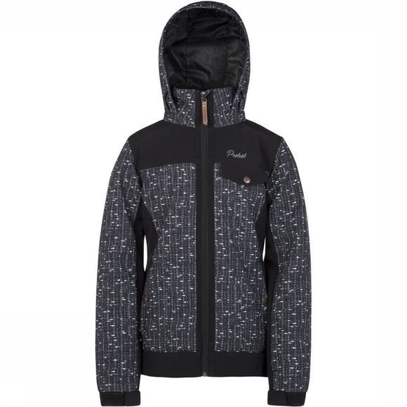 Protest Softshell Dream Jr Zwart/Donkergrijs Mengeling