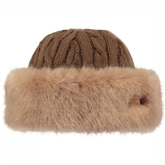 Barts Bonnet Fur Cable Bandhat Brun Clair