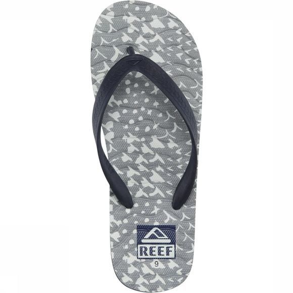 Reef Slipper Chipper Prints Donkergrijs/Donkerkaki