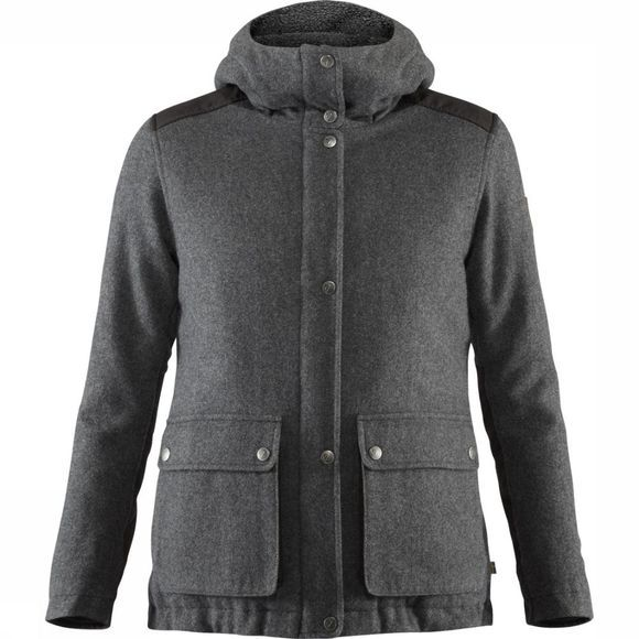 Fjällräven Manteau Greenland Re-Wool Gris Moyen