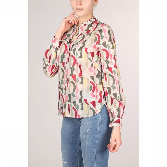 Marc O'Polo Blouse 902149142163 Donkergroen/Middenblauw