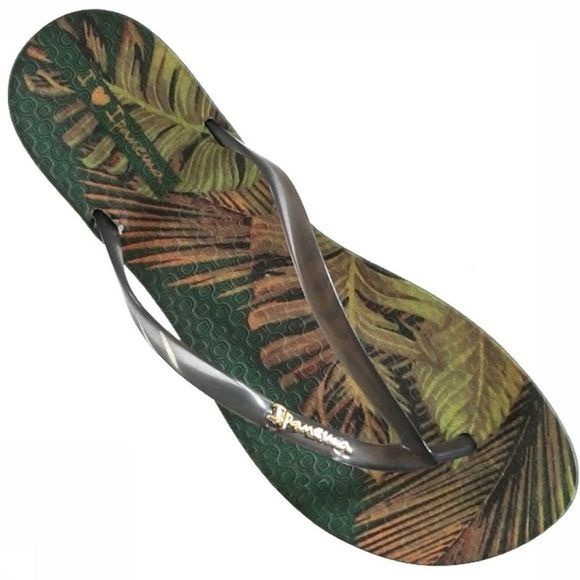 Ipanema Slipper Wave Tropical Middenkaki/Assortiment Bloem