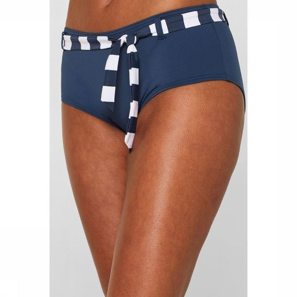 Esprit Slip North Brief Hipster With Acc Belt Blauw/Wit