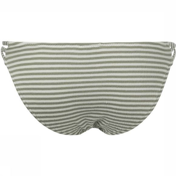 Yaya Slip Strappy Striped Bikini Bottom off white/mid khaki