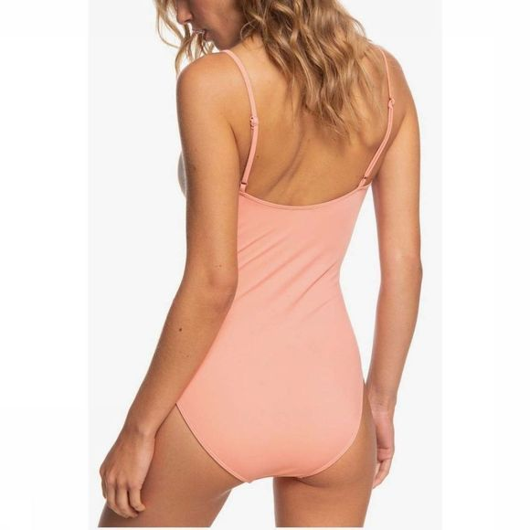 Roxy Bathing Suit Pop Surf One Piece Salmon pink