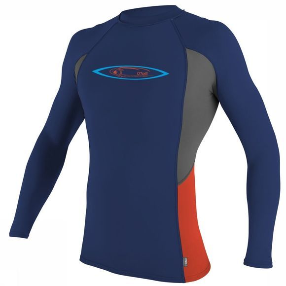 O'Neill Lycra Skins Graphic L/S Crew dark blue/red