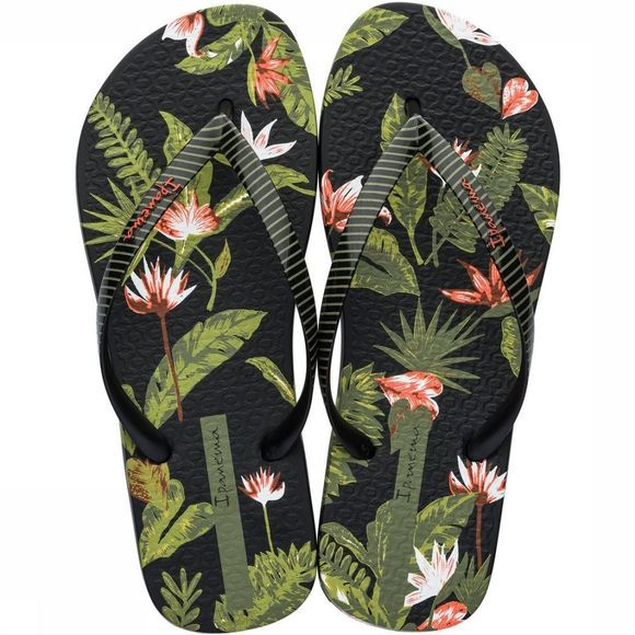 Ipanema Tongs I Love Tropical Noir/Assortiment Fleur