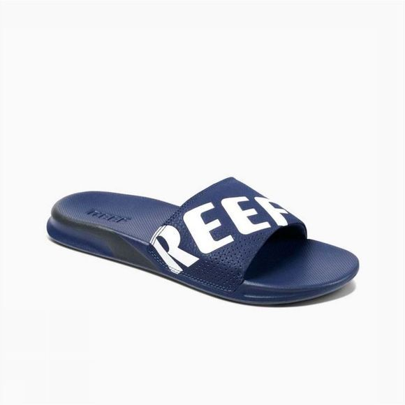 Reef Slipper One Slide Marineblauw/Wit