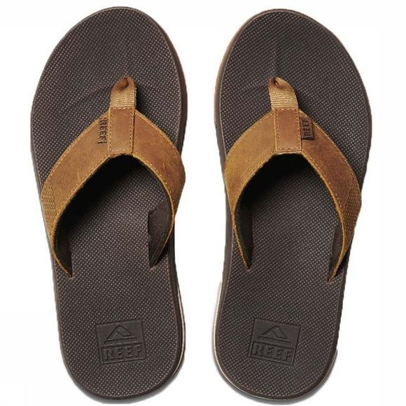 Reef Slipper Leather Fanning Low Bruin