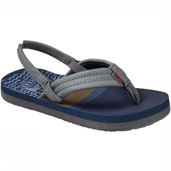 Reef Slipper Little/Kids Ahi Marineblauw/Donkergrijs