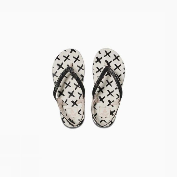 Reef Tongs Little Stargazer Prints Blanc Cassé/Noir