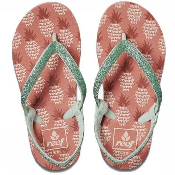 Reef Flip Flop Little Stargazer Prints mid pink/green