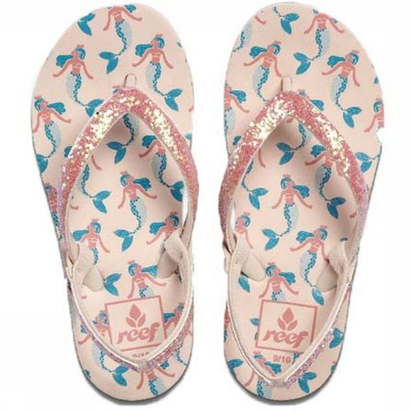 Reef Slipper Little/Kids Stargazer Prints Lichtroze/Blauw