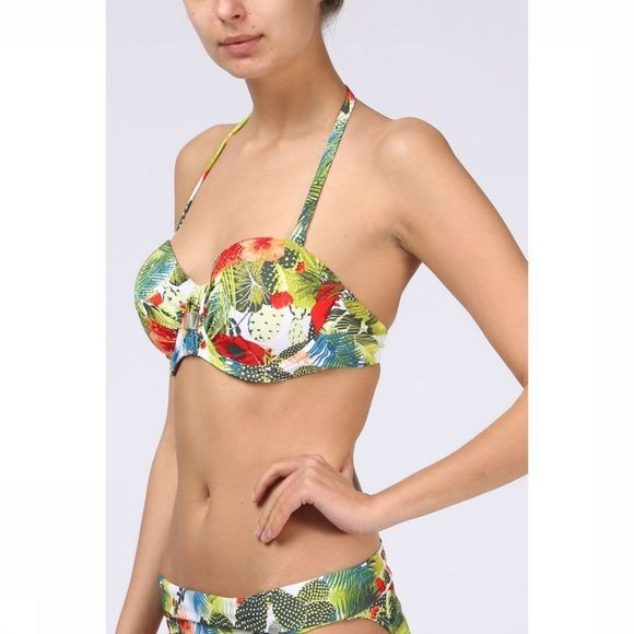 Beach Life Bra Padded Underwire mid green/Assortment Flower
