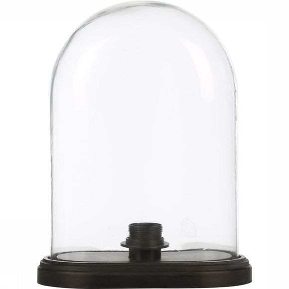 Yaya Home Glass Dome With Fitting Zwart