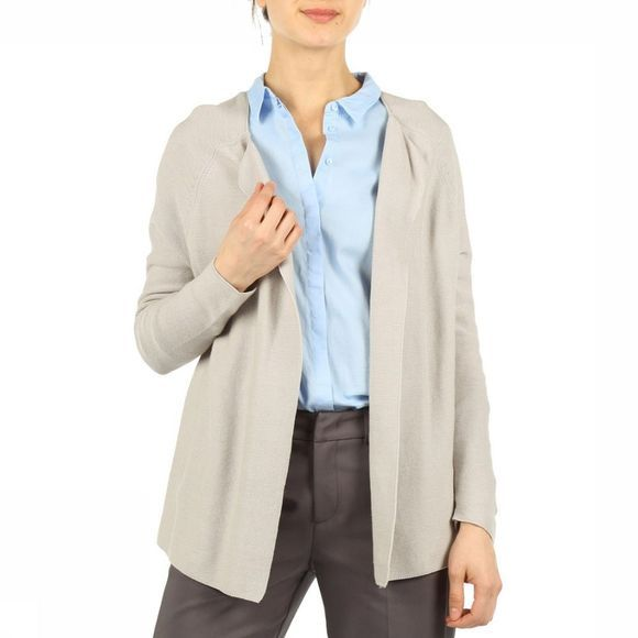 Yaya Cardigan With Fashion Marks Middengrijs
