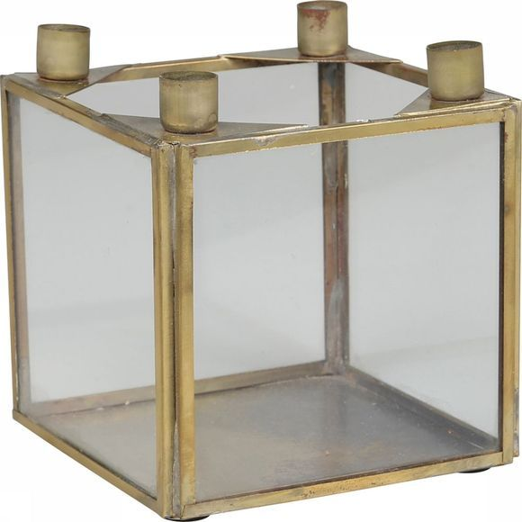 Yaya Home Glassbox For 4 Small Candles COPPER
