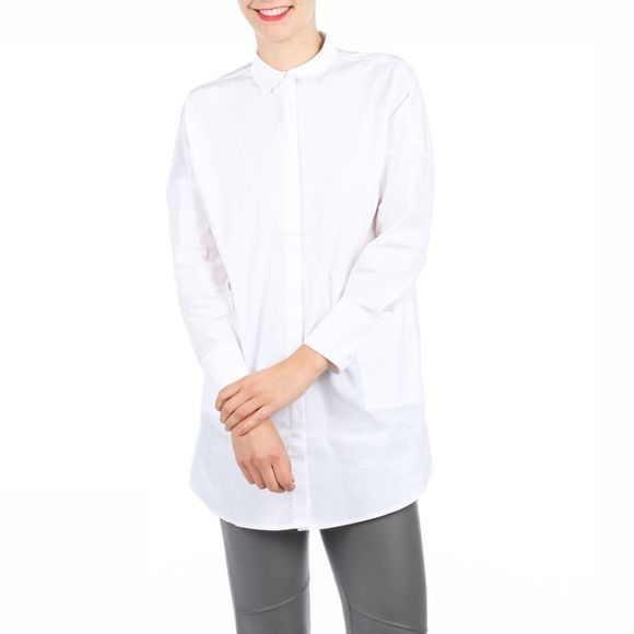 Yaya T-Shirt Long Poplin Shirt W Pockets Wit
