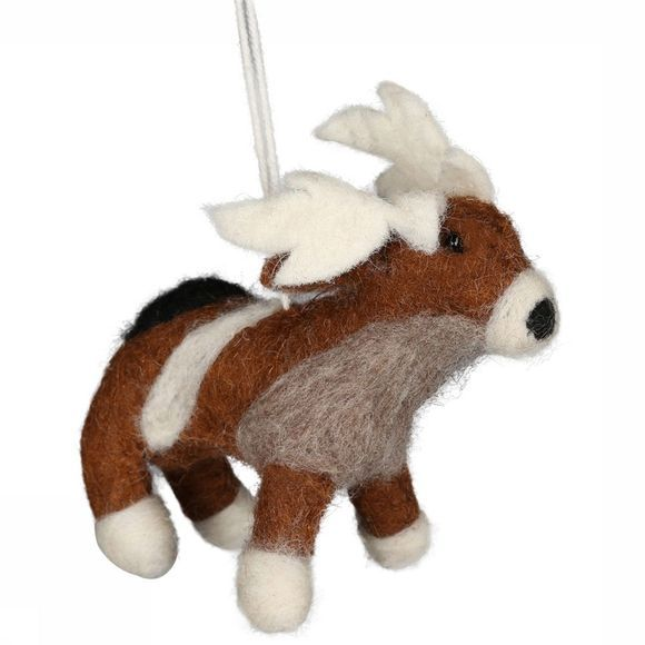 Accessoire Hanging Woolen Goat Small
