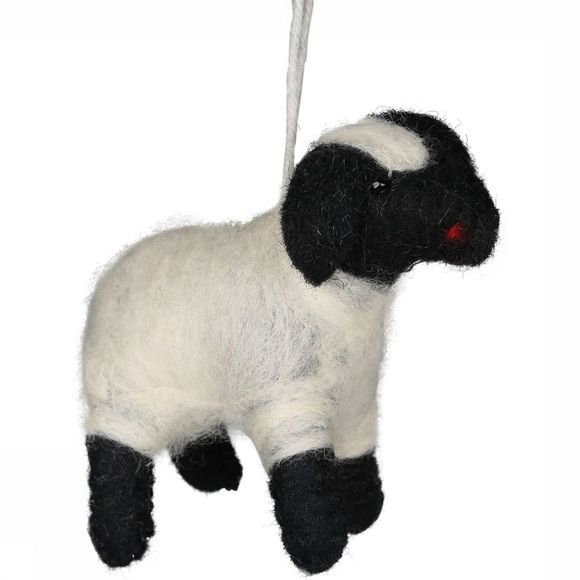 Yaya Home Accessoire Hanging Woolen Sheep Small Wit