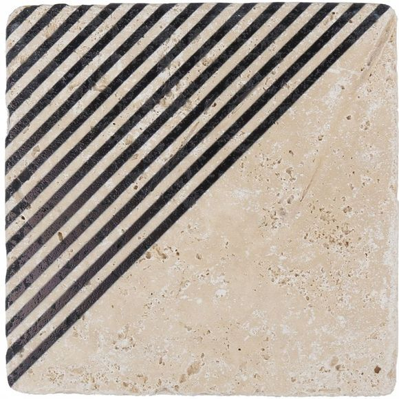 Yaya Home Printed Tile Angle Stripes Assortiment