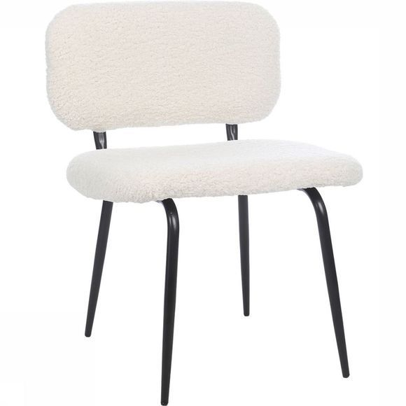 Stoel  Chair Fake Fur Steel