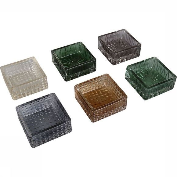 Yaya Home Kaars Tealight Holders Set Of 6 Assortiment