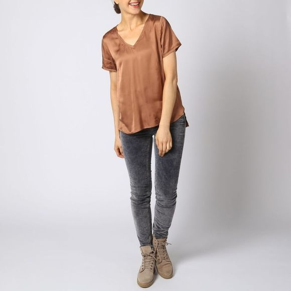 Blouse High Shine Woven