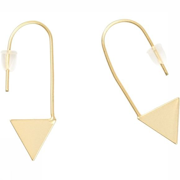 Yaya Oorbel Triangle Earrings Goud