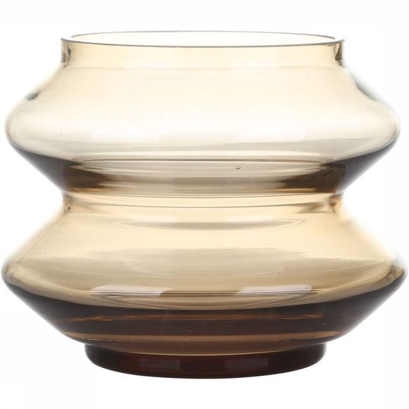 Yaya Home Stackable Glass Vase 13,5X10,5Cm Bruin